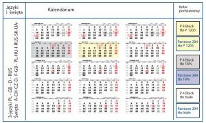 kalendaria pięciodzielne