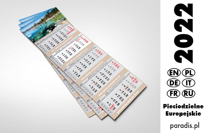 kalendarze pięciodzielne 2021